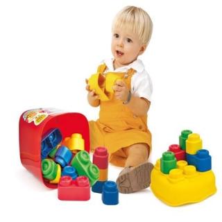 Obrázek 2 produktu Clemmy Baby 20 barevných kostek v kyblíku, základní barvy