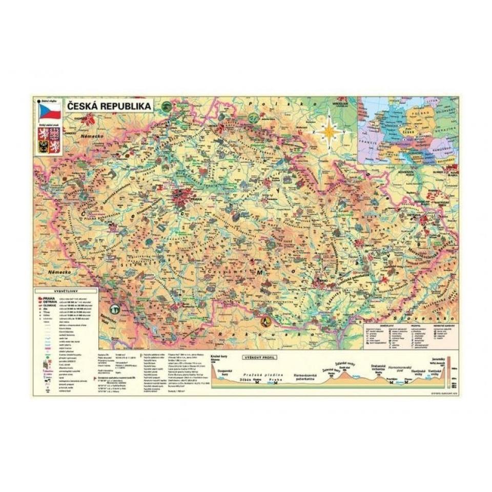 Obrázek 1 produktu DINO Puzzle Mapa české republiky 500 dílků