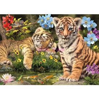 Obrázek 2 produktu DINO Puzzle Tygříci Secret collection - 12 skrytých detailů, 1000 dílků