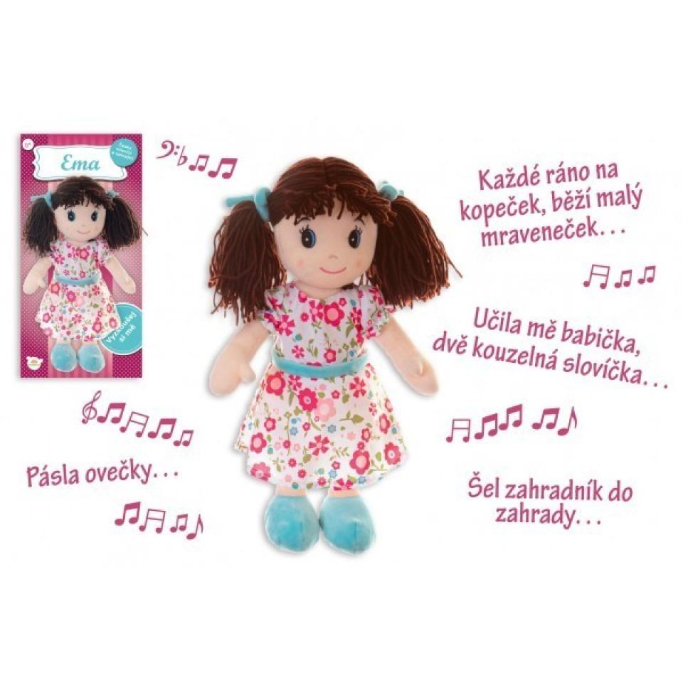 Obrázek 1 produktu Panenka Ema hadrová 40cm, česky mluvící a zpívající