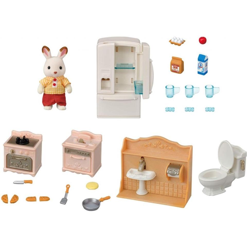 Obrázek 1 produktu Sylvanian Families 5479 Startovací set nábytku a Chocolate králičího taťky