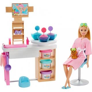 Obrázek 2 produktu Mattel Barbie Salón krásy herní set s běloškou, GJR84