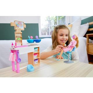 Obrázek 3 produktu Mattel Barbie Salón krásy herní set s běloškou, GJR84