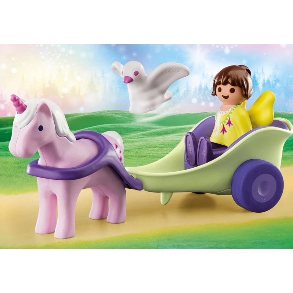 Obrázek 1 produktu Playmobil 70401 Kočár s jednorožcem a vílou (1.2.3)