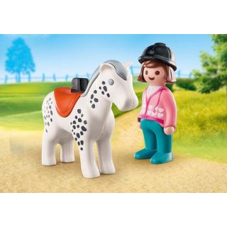 Obrázek 2 produktu Playmobil 70404 Žokejka s koněm (1.2.3)