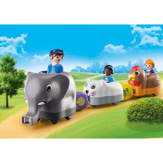 Obrázek 2 produktu Playmobil 70405 Můj tahací vláček se zvířátky (1.2.3)