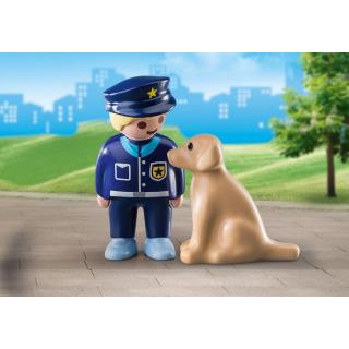 Obrázek 2 produktu Playmobil 70408 Policista se psem (1.2.3)