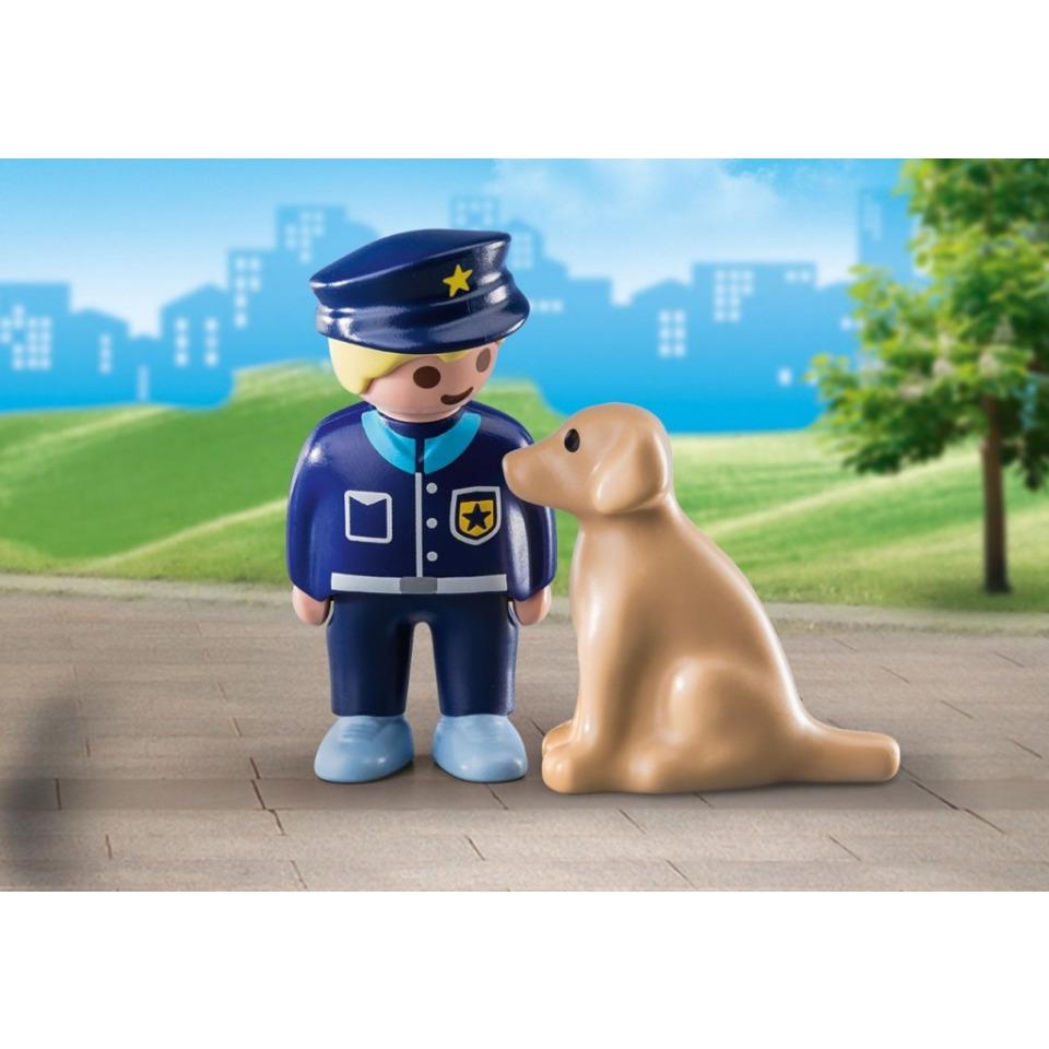 Obrázek 1 produktu Playmobil 70408 Policista se psem (1.2.3)