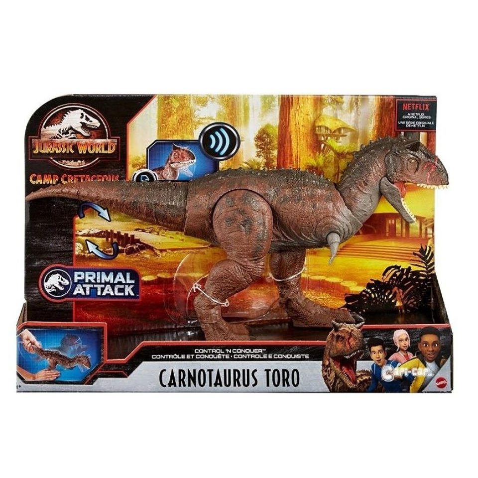 Obrázek 1 produktu Jurský svět, pohyblivý Carnotaurus TORO se zvukem, Mattel GNL07