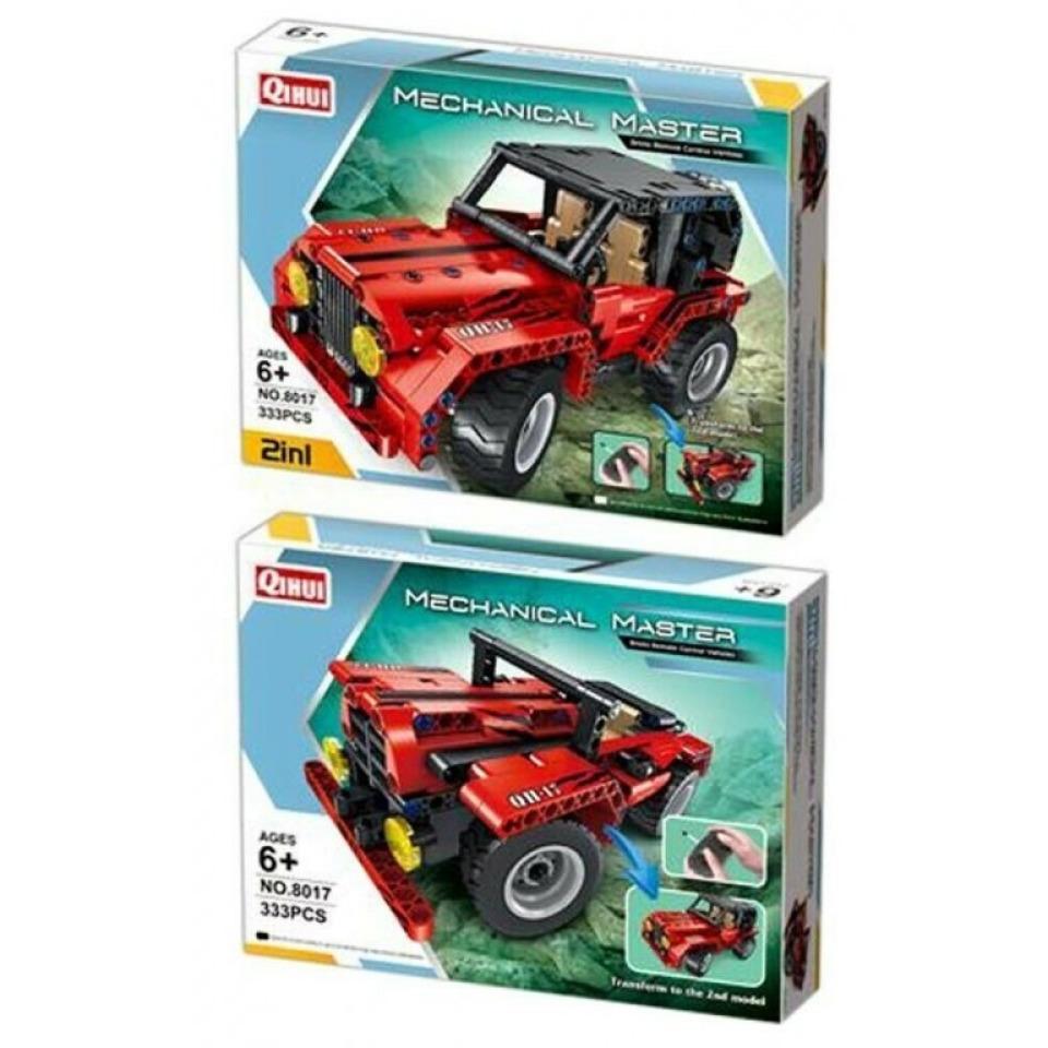 Obrázek 1 produktu Tech Bricks 8017 R/C Jeep 2v1, 333 dílků