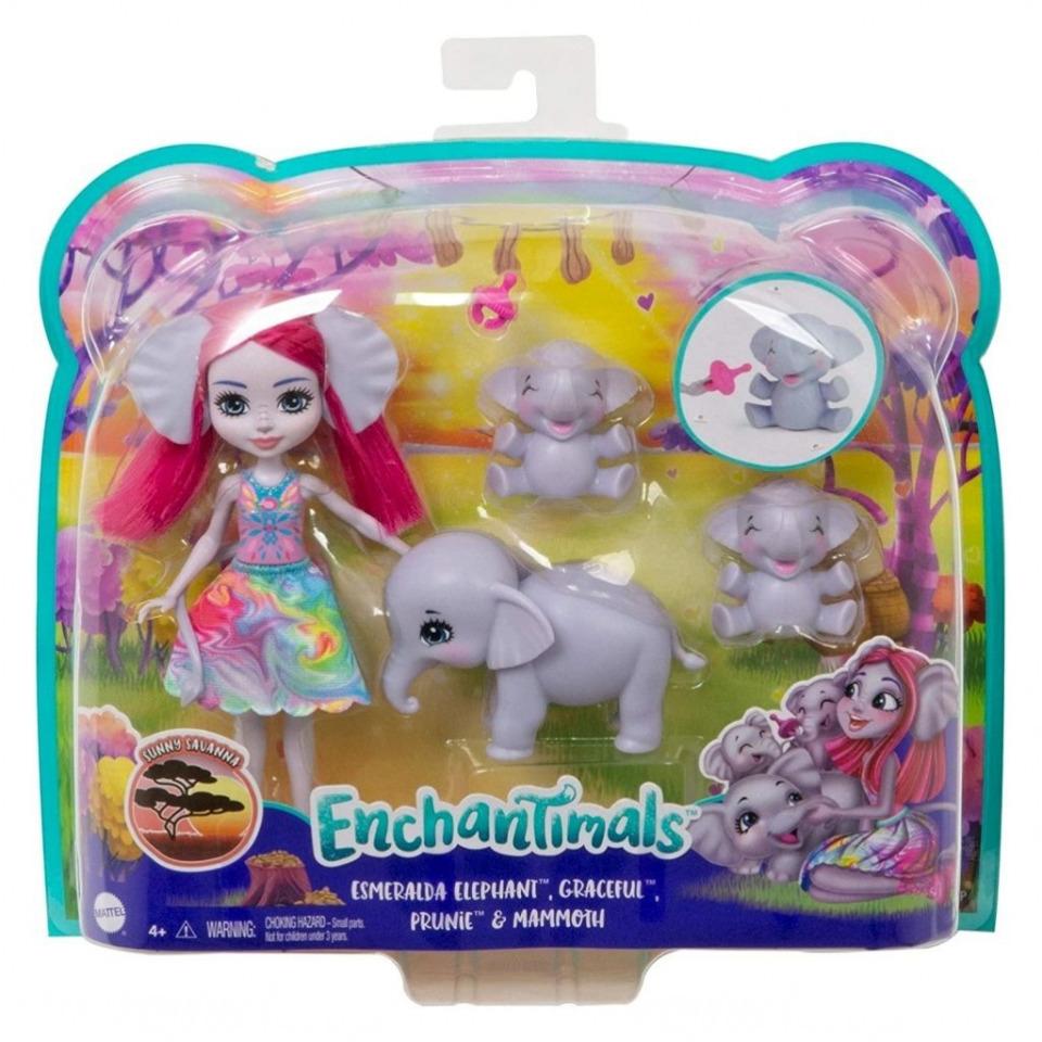 Obrázek 1 produktu ENCHANTIMALS Rodinka Esmeralda se slony, Mattel GTM30