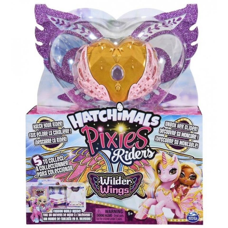 Obrázek 3 produktu Hatchimals PixieS Wilder Wings Víla se zvířátkem a doplňky, Riders 28606