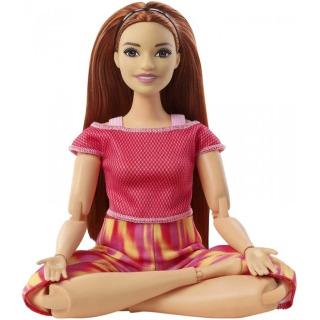 Obrázek 2 produktu Barbie Panenka V pohybu, zrzka v žíhaných legínách, Mattel GXF07