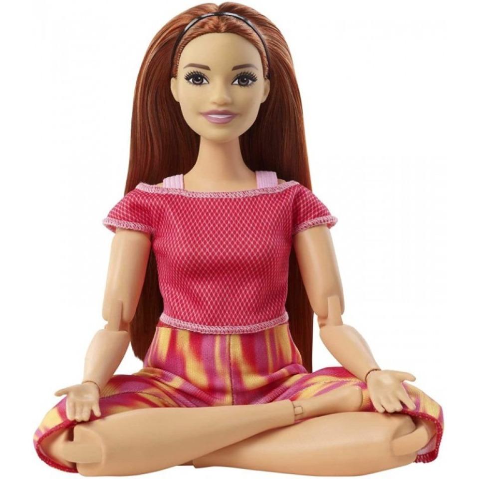Obrázek 1 produktu Barbie Panenka V pohybu, zrzka v žíhaných legínách, Mattel GXF07