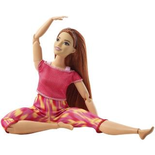 Obrázek 3 produktu Barbie Panenka V pohybu, zrzka v žíhaných legínách, Mattel GXF07