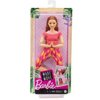 Obrázek 5 produktu Barbie Panenka V pohybu, zrzka v žíhaných legínách, Mattel GXF07