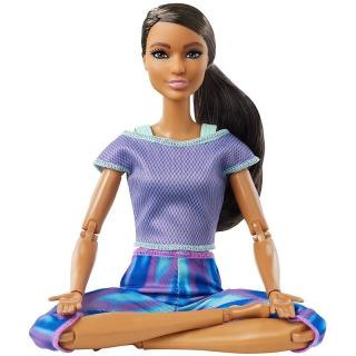 Obrázek 2 produktu Barbie Panenka V pohybu, černoška v žíhaných legínách, Mattel GXF06