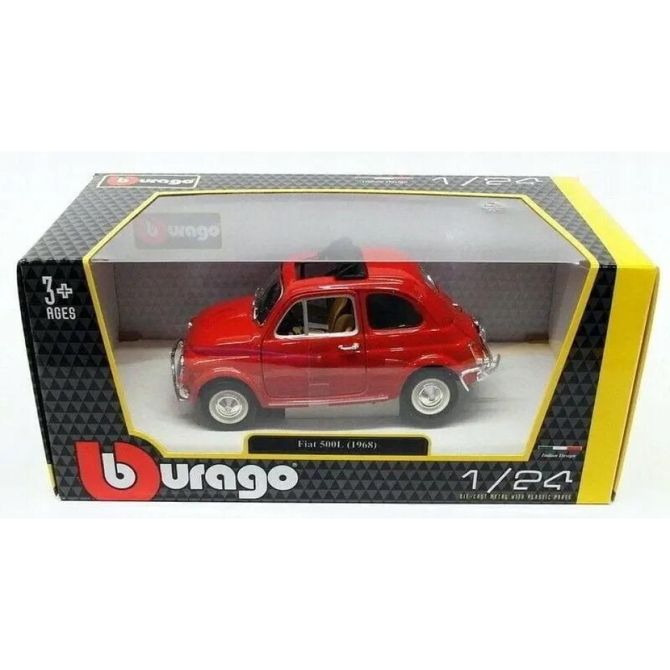 Obrázek 2 produktu Burago Fiat 500L (1968) 1:24 červený