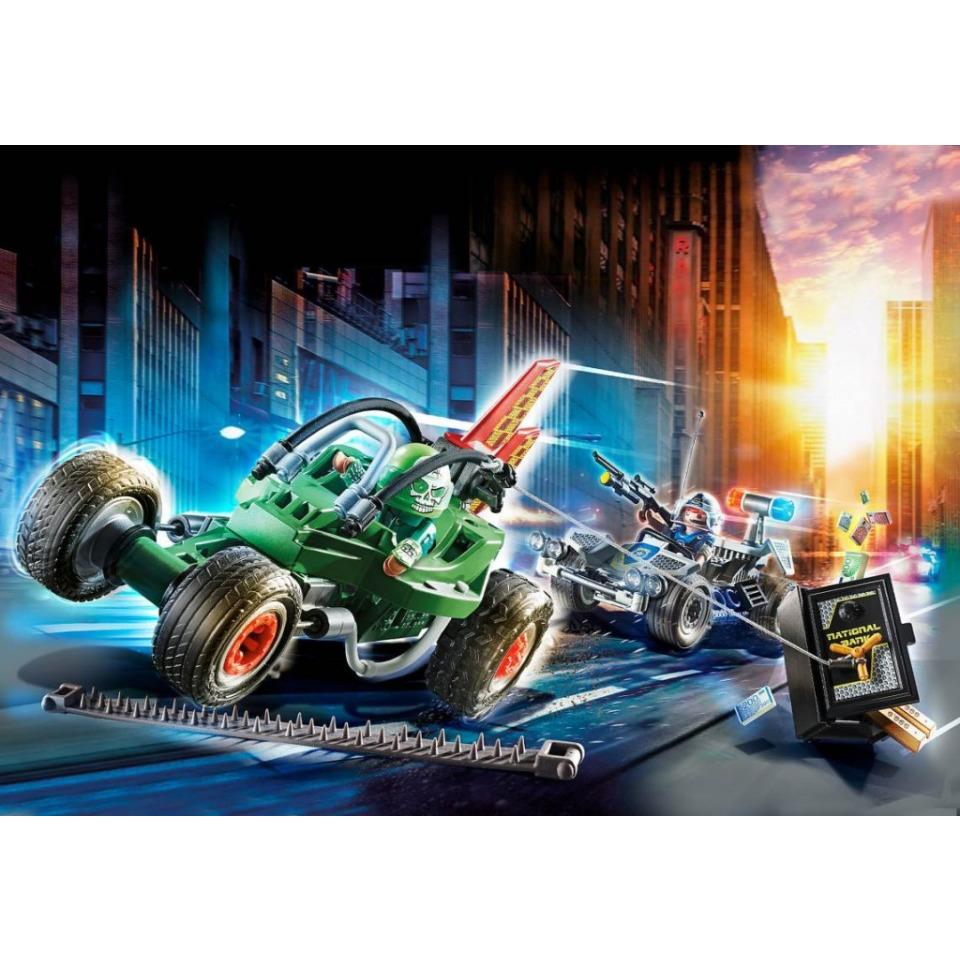 Obrázek 4 produktu Playmobil 70577 Policejní motokára: Pronásledování lupiče trezoru