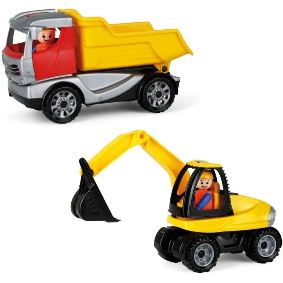 Obrázek 1 produktu LENA Truckies set stavba plast stavební stroje s figurkami a doplňky