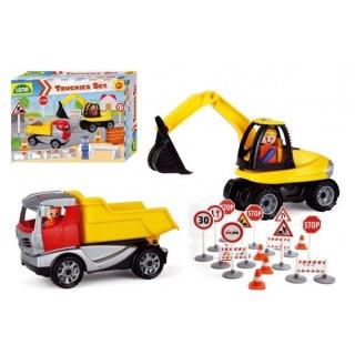 Obrázek 3 produktu LENA Truckies set stavba plast stavební stroje s figurkami a doplňky