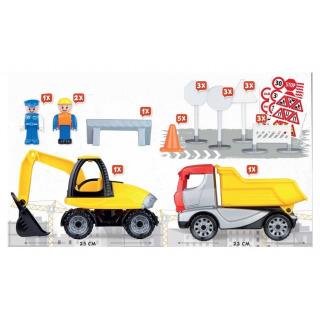 Obrázek 4 produktu LENA Truckies set stavba plast stavební stroje s figurkami a doplňky