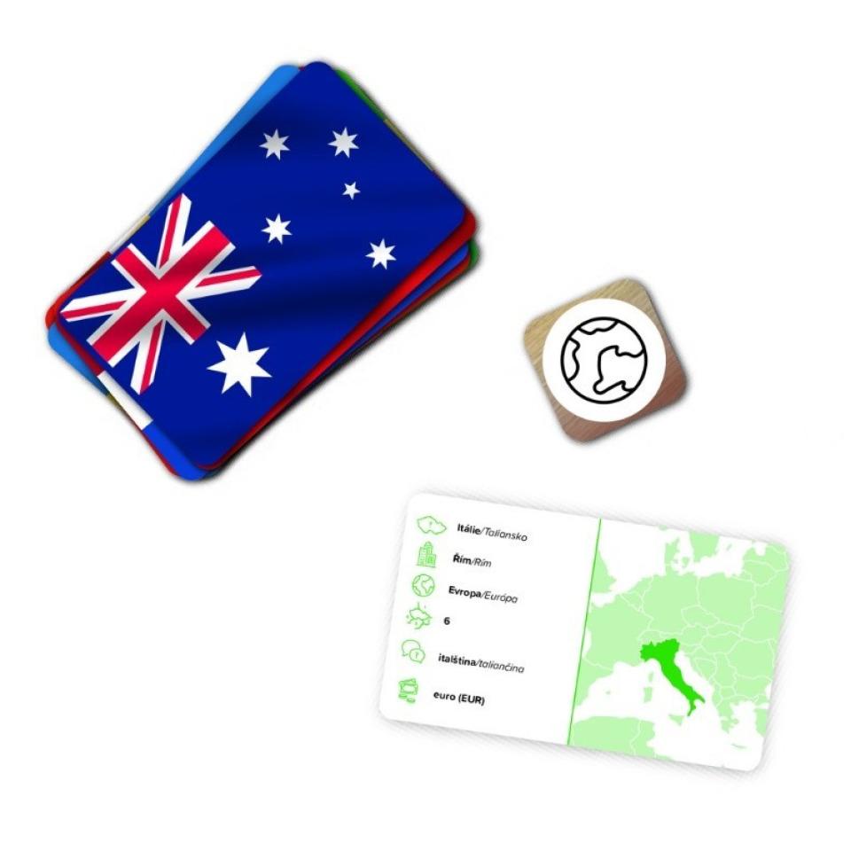 Obrázek 1 produktu DINO Poznej vlajky, cestovní hra