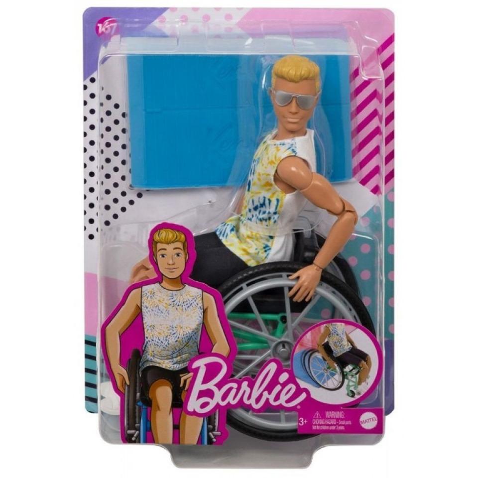 Obrázek 1 produktu Mattel Ken na invalidním vozíku, GWX93