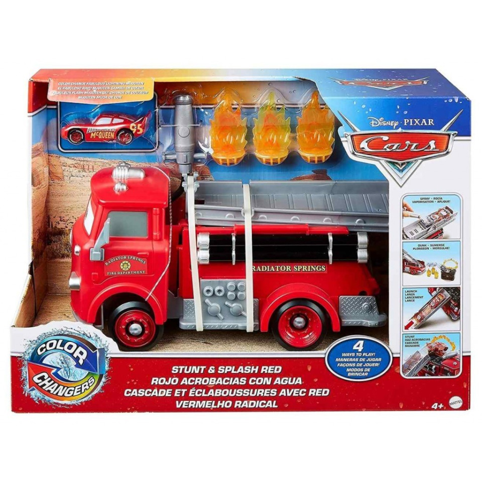 Obrázek 4 produktu Cars Color Changers Stunt & Splash RED, Mattel GPH80