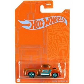 Obrázek 2 produktu Hot Wheels Orange & Blue tematický angličák CUSTOM 56 FORD TRUCK, Mattel GRR37