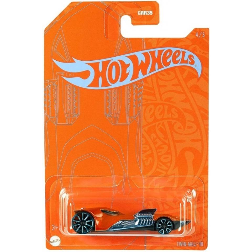 Obrázek 1 produktu Hot Wheels Orange & Blue tematický angličák TWIN MILL III, Mattel GRR41