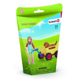 Obrázek 2 produktu Schleich 42543 Výlet s ručním vozíkem