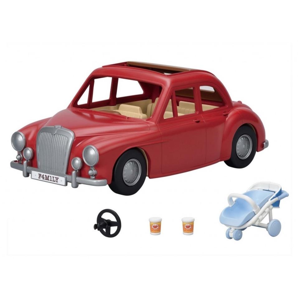 Obrázek 1 produktu Sylvanian Families 5448 Rodinné cestovní auto červené s kočárkem a autosedačkou