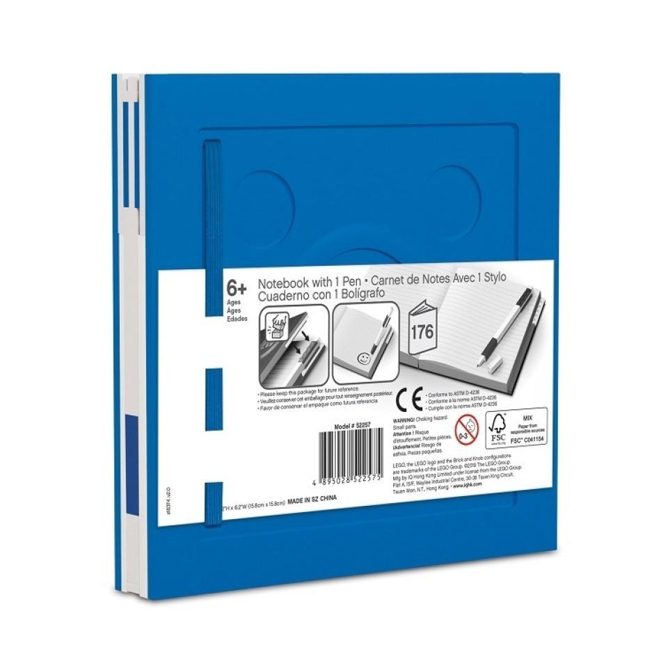 Obrázek 1 produktu LEGO Zápisník s gelovým perem jako klipem - modrý