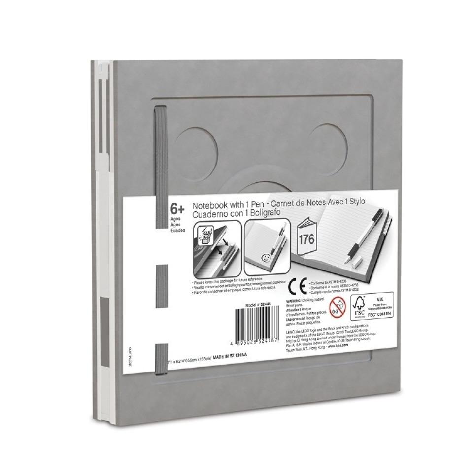 Obrázek 1 produktu LEGO Zápisník s gelovým perem jako klipem - šedý