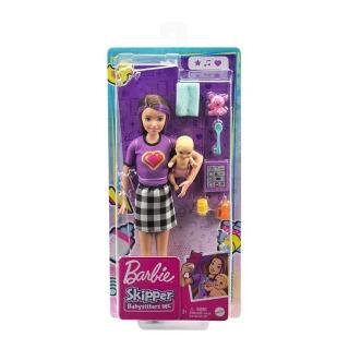 Obrázek 3 produktu Barbie Chůva Violet + miminko s doplňky, Mattel GRP11