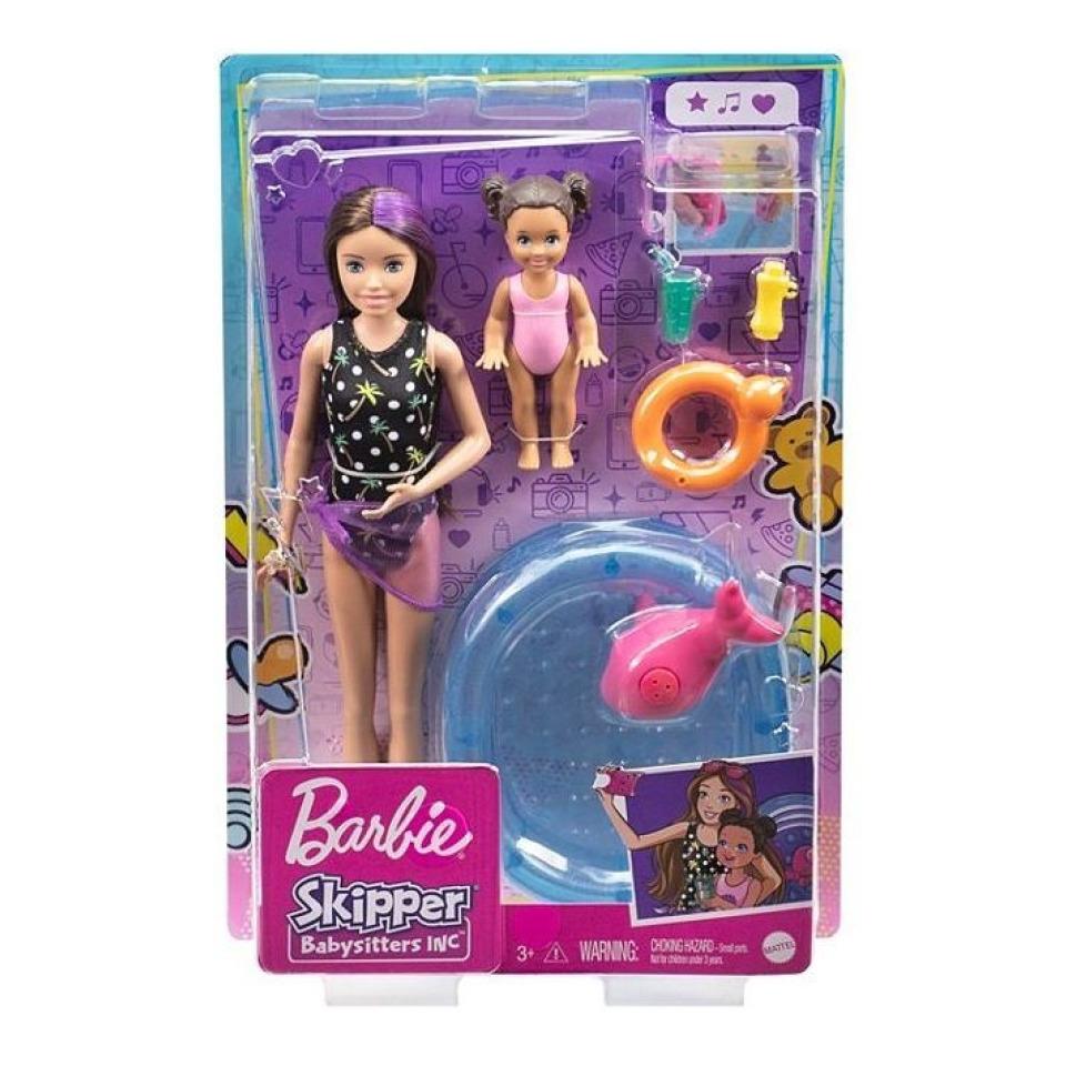Obrázek 3 produktu Barbie Chůva herní set s bazénkem, Mattel GRP39