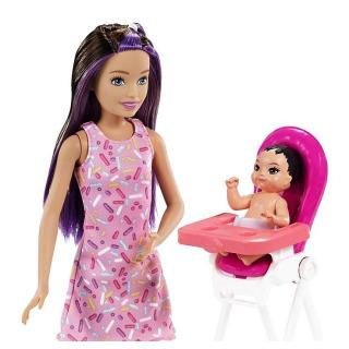Obrázek 2 produktu Barbie Chůva herní set Narozeniny, Mattel GRP40