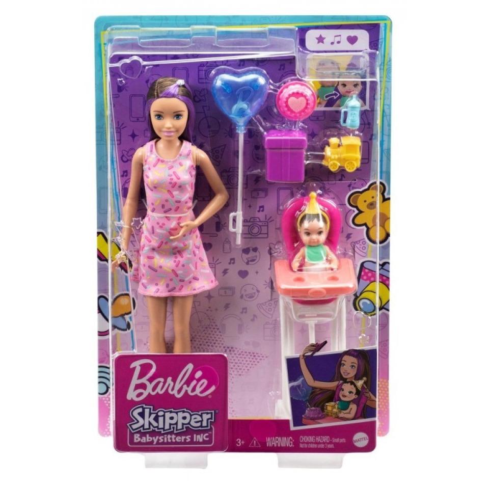 Obrázek 3 produktu Barbie Chůva herní set Narozeniny, Mattel GRP40