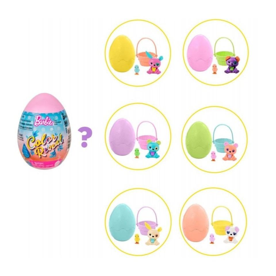 Obrázek 1 produktu Mattel Barbie COLOR REVEAL Velikonoční vajíčko, GVK58