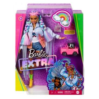 Obrázek 5 produktu Barbie Extra Stylová dlouhovláska s pejskem v autě, Mattel GRN29