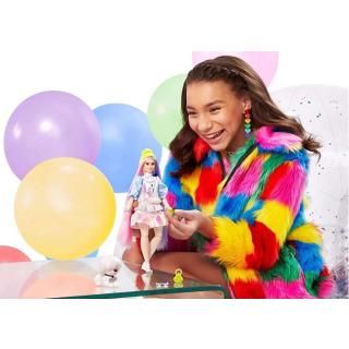 Obrázek 4 produktu Barbie Extra Stylová dlouhovláska s bílým chlupáčem, Mattel GVR05