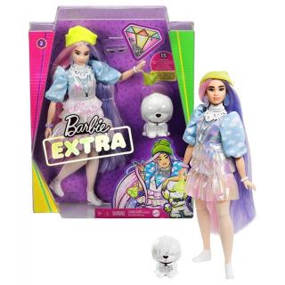 Obrázek 5 produktu Barbie Extra Stylová dlouhovláska s bílým chlupáčem, Mattel GVR05