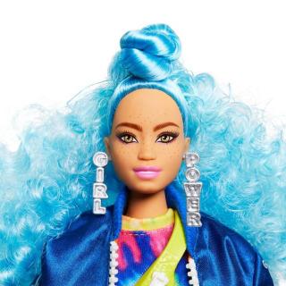 Obrázek 2 produktu Barbie Extra Stylová dlouhovláska s kočkama a skateboardem, Mattel GRN30