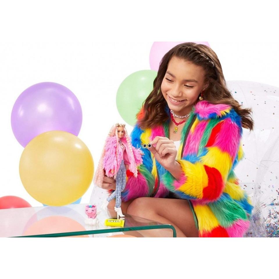 Obrázek 3 produktu Barbie Extra Stylová dlouhovláska s prasátkem, Mattel GRN28