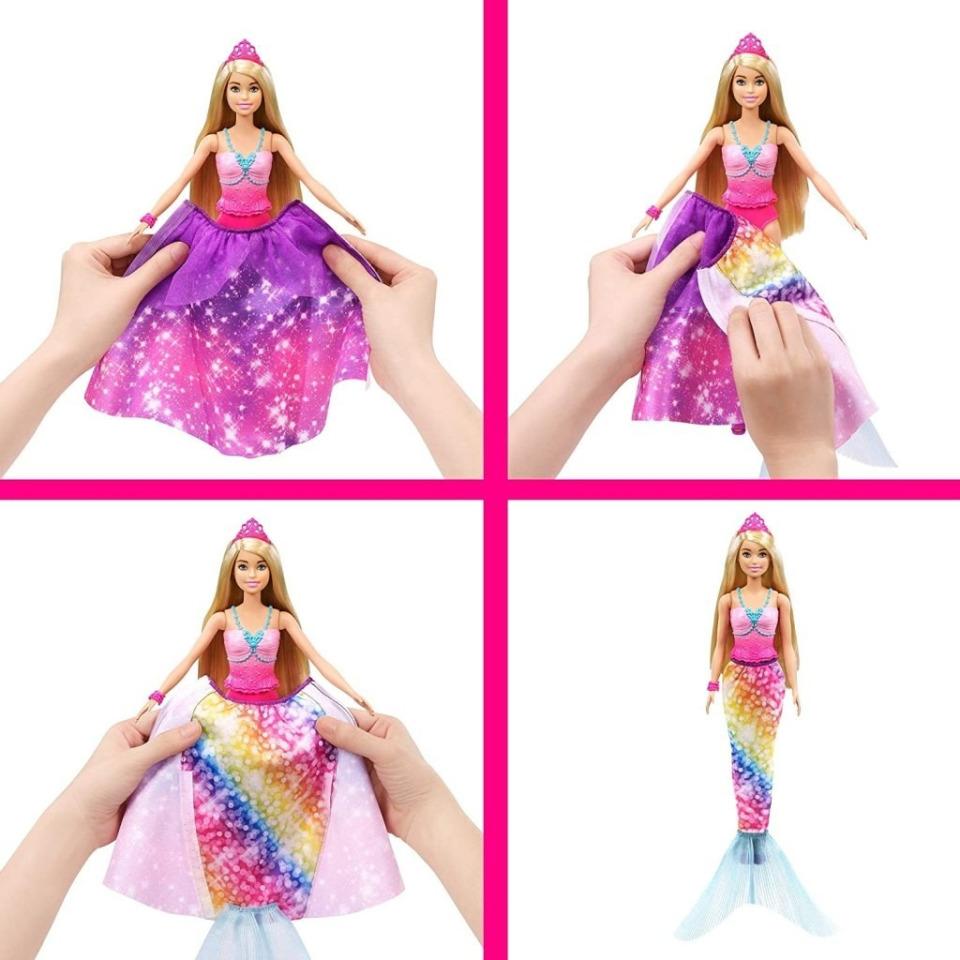 Obrázek 2 produktu Barbie Z princezny mořská panna, Mattel GTF92