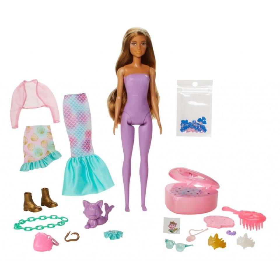 Obrázek 1 produktu Barbie Color reveal Fantasy Mořská panna, Mattel GXV93