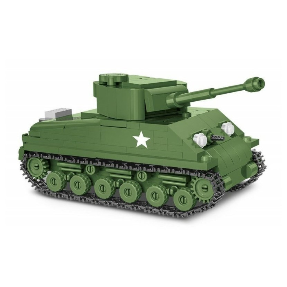 Obrázek 1 produktu COBI 2705 World War II Americký tank Sherman M4A3E8