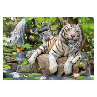Obrázek 2 produktu EDUCA 14808 Puzzle Bílí bengálští tygři 1000 dílků