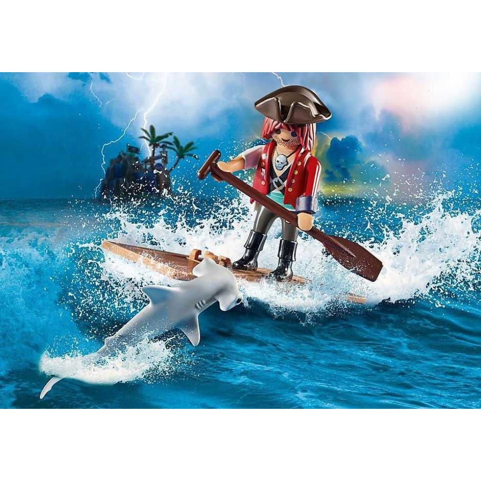 Obrázek 2 produktu Playmobil 70598 Pirát na voru se žralokem kladivounem